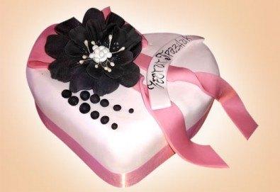 С доставка през март и април! АМОРЕ: подарете Торта Сърце по дизайн на Сладкарница Джорджо Джани - Снимка
