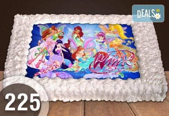 С доставка през март и април! Експресна торта от днес за днес: голяма детска торта 20, 25 или 30 парчета със снимка на любим герой от Сладкарница Джорджо Джани - Снимка 3