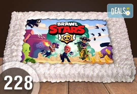 С доставка през март и април! Експресна торта от днес за днес: голяма детска торта 20, 25 или 30 парчета със снимка на любим герой от Сладкарница Джорджо Джани - Снимка 2
