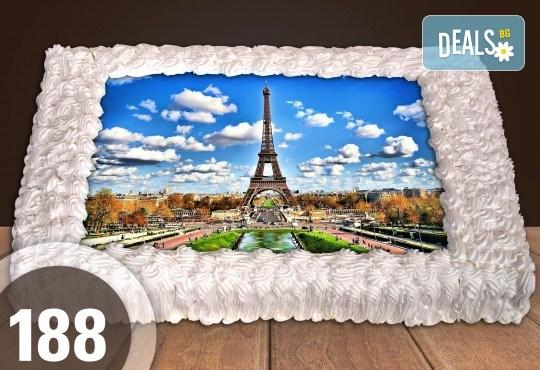 С доставка през март и април! Експресна торта от днес за днес: голяма детска торта 20, 25 или 30 парчета със снимка на любим герой от Сладкарница Джорджо Джани - Снимка 82