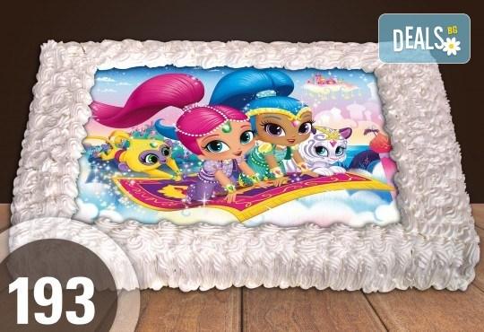 Експресна торта от днес за днес! Голяма детска торта 20, 25 или 30 парчета със снимка на любим герой от Сладкарница Джорджо Джани - Снимка 87