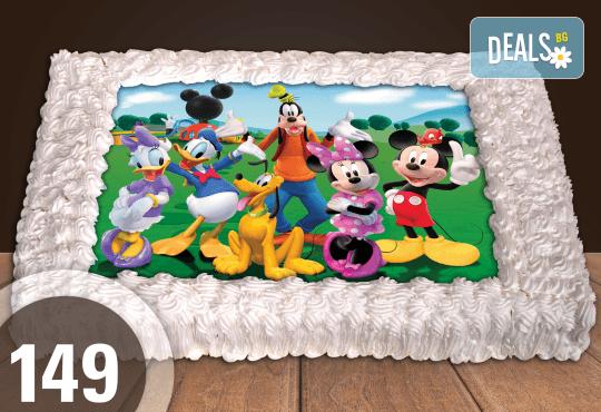 Експресна торта от днес за днес! Голяма детска торта 20, 25 или 30 парчета със снимка на любим герой от Сладкарница Джорджо Джани - Снимка 47