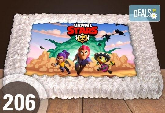 С доставка през март и април! Експресна торта от днес за днес: голяма детска торта 20, 25 или 30 парчета със снимка на любим герой от Сладкарница Джорджо Джани - Снимка 1