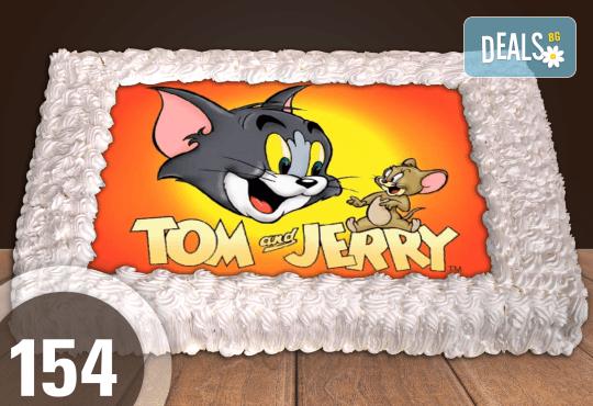 Експресна торта от днес за днес! Голяма детска торта 20, 25 или 30 парчета със снимка на любим герой от Сладкарница Джорджо Джани - Снимка 57