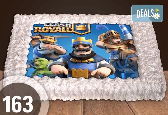 Експресна торта от днес за днес! Голяма детска торта 20, 25 или 30 парчета със снимка на любим герой от Сладкарница Джорджо Джани - Снимка 37