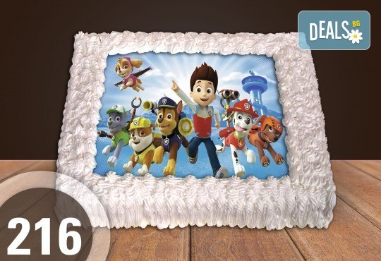 Експресна торта от днес за днес! Голяма детска торта 20, 25 или 30 парчета със снимка на любим герой от Сладкарница Джорджо Джани - Снимка 108