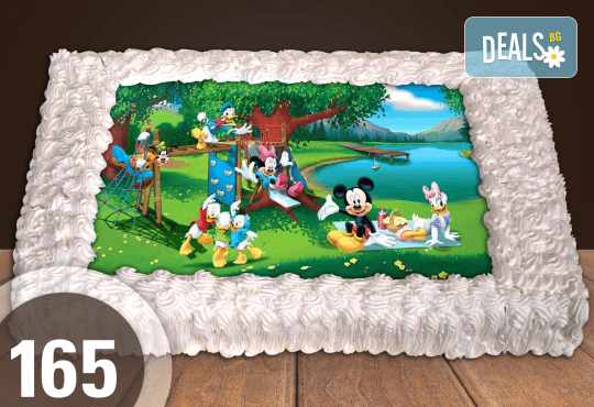 Експресна торта от днес за днес! Голяма детска торта 20, 25 или 30 парчета със снимка на любим герой от Сладкарница Джорджо Джани - Снимка 49