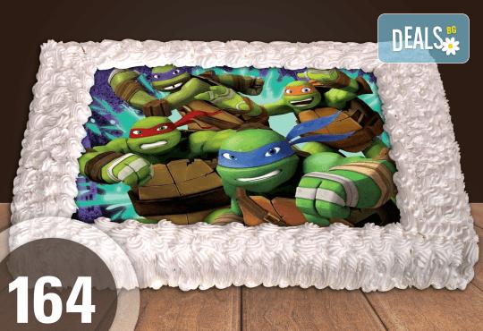 Експресна торта от днес за днес! Голяма детска торта 20, 25 или 30 парчета със снимка на любим герой от Сладкарница Джорджо Джани - Снимка 24