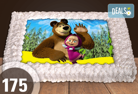 Експресна торта от днес за днес! Голяма детска торта 20, 25 или 30 парчета със снимка на любим герой от Сладкарница Джорджо Джани - Снимка 71
