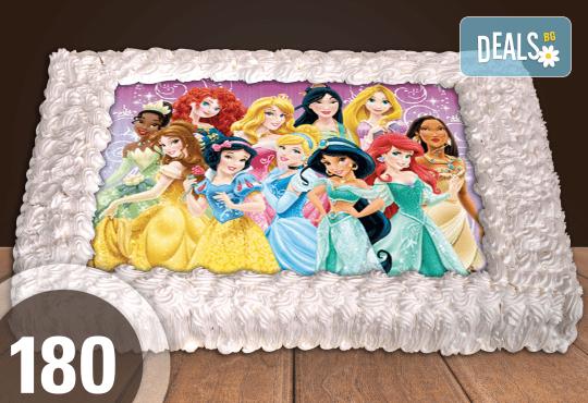 Експресна торта от днес за днес! Голяма детска торта 20, 25 или 30 парчета със снимка на любим герой от Сладкарница Джорджо Джани - Снимка 75
