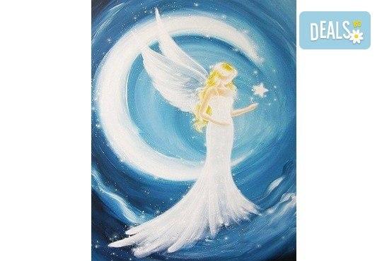 3 часа рисуване на Ангел на 26.01. от 18ч. + чаша вино в Пух арт студио - Снимка 1