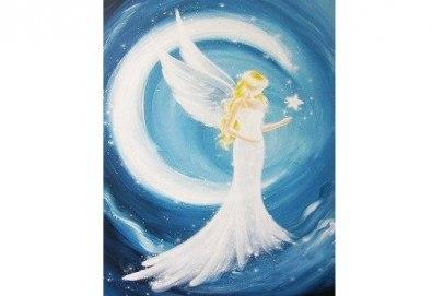3 часа рисуване на Ангел на 26.01. от 18ч. + чаша вино в Пух арт студио - Снимка