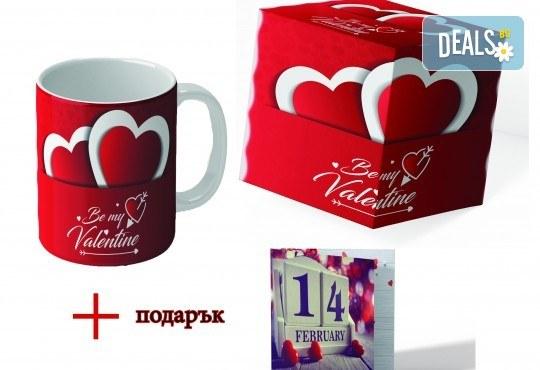 Подарете с любов! Красива чаша за Свети Валентин с дизайн по Ваш избор + подарък: кутия и картичка от Хартиен свят - Снимка 2