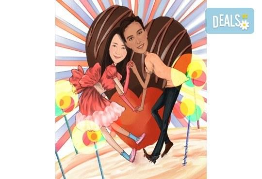 Подарете с любов за Свети Валентин или 8-ми март! Изработка на карикатура с готов дизайн, с рамка и подарък: картичка от Хартиен свят - Снимка 4