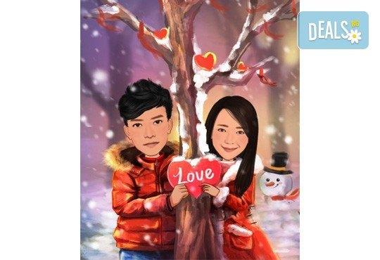 Подарете с любов за Свети Валентин или 8-ми март! Изработка на карикатура с готов дизайн, с рамка и подарък: картичка от Хартиен свят - Снимка 6