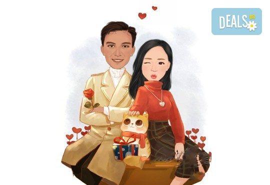 Подарете с любов за Свети Валентин или 8-ми март! Изработка на карикатура с готов дизайн, с рамка и подарък: картичка от Хартиен свят - Снимка 3