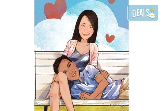 Подарете с любов за Свети Валентин или 8-ми март! Изработка на карикатура с готов дизайн, с рамка и подарък: картичка от Хартиен свят - Снимка 5