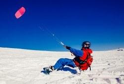 Екстремно зимно забавление! Сноукайт приключение за двама - за начинаещи или среднонапреднали, с включена екипировка - Снимка