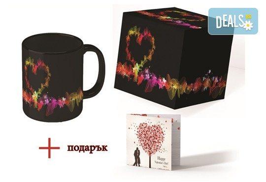 С повод или без! Комплект от чаша с дръжка сърце или магическа чаша с Ваша снимка + картичка и кутия от Хартиен свят - Снимка 2
