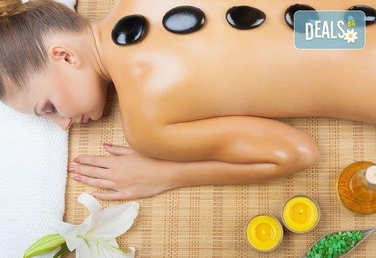 Релакс за тялото и сетивата с 90-минутна японска ZEN терапия на цяло тяло с вулканични камъни, зелен чай и мед в центрове Енигма - Снимка 2