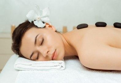 Релакс за тялото и сетивата с 90-минутна японска ZEN терапия на цяло тяло с вулканични камъни, зелен чай и мед в центрове Енигма - Снимка