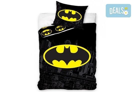 Предложение за Вашия малчуган! Детски спален комплект Батман, изработен от 100% памук ранфорс, от Спално бельо - Снимка 1
