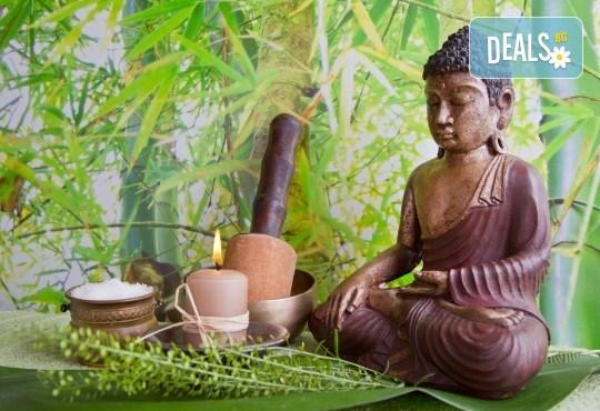 Релакс за тялото и сетивата със 75-минутен тибетски енергиен масаж на цяло тяло в студио Giro - Снимка 1