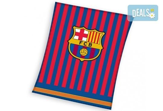 За Вашия малчуган! Поларено детско одеяло в красивите цветове на ФК Барселона от Спално бельо - Снимка 2
