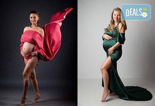 60-минутна фотосесия за бременни в студио с включени аксесоари, дрехи и ефекти + обработка на всички заснети кадри, от Chapkanov photography - Снимка 15