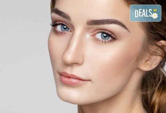 Красиво лице! Почистване и оформяне на вежди, нанасяне на пилинг и златна маска за лице в студио Нова - Снимка 1