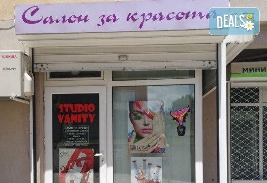 Масажно измиване, терапия за коса, подстригване по избор и прическа със сешоар в Студио за красота Vanity - Снимка 15