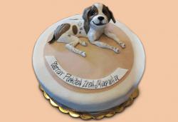 С доставка през април, май и юни! За домашен любимец: торта за Рожден ден на Вашия домашен приятел: куче, котка, рибка или др. с тематична декорация от Сладкарница Джорджо Джани - Снимка