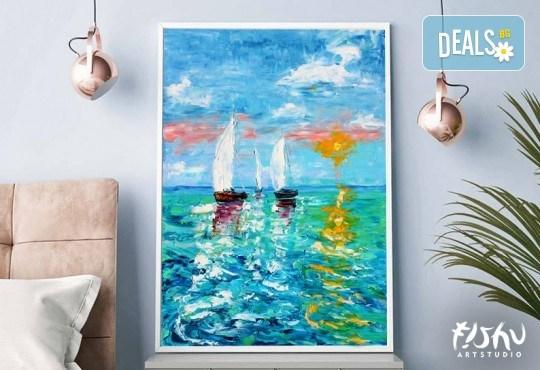 Арт вечер, вино и приятели! Рисуване с акрил на картина по избор с напътствията на професионален художник и чаша вино от Fishu.Art - Снимка 7