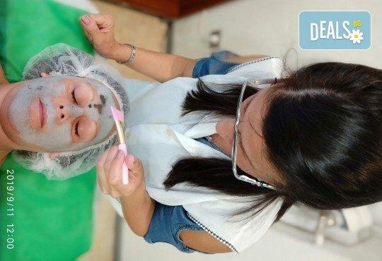 Подмладяващ масаж 3 в 1 на лице, деколте и шия + маска с колаген и водорасли и линфодренаж в студио за красота Нова - Снимка 10