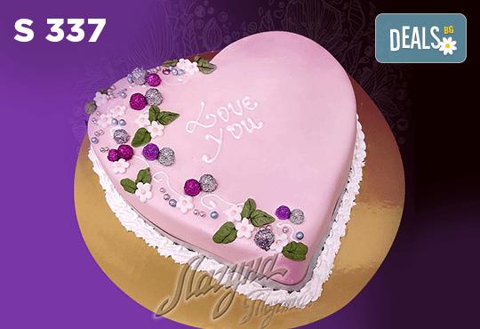 """Подарете уникална бутикова торта """"Романтично сърце"""" на любимия човек в цвят и вкус по желание, от сладкарница Лагуна! - Снимка 4"""