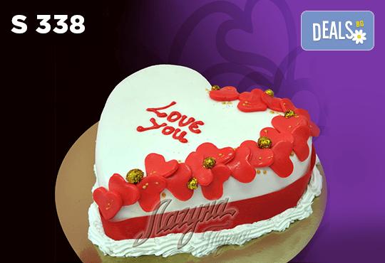 """Подарете уникална бутикова торта """"Романтично сърце"""" на любимия човек в цвят и вкус по желание, от сладкарница Лагуна! - Снимка 3"""