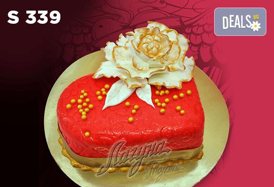 """Подарете уникална бутикова торта """"Романтично сърце"""" на любимия човек в цвят и вкус по желание, от сладкарница Лагуна! - Снимка 5"""