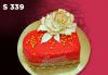 """Подарете уникална бутикова торта """"Романтично сърце"""" на любимия човек в цвят и вкус по желание, от сладкарница Лагуна! - thumb 5"""