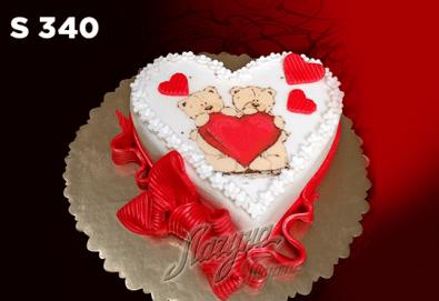 """Подарете уникална бутикова торта """"Романтично сърце"""" на любимия човек в цвят и вкус по желание, от сладкарница Лагуна! - Снимка"""