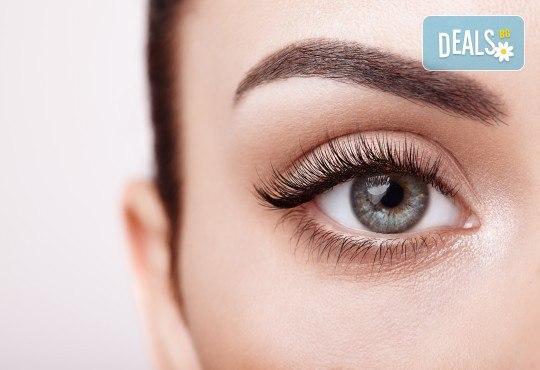 Поглед като от реклама! Удължаване и сгъстяване на мигли по метода косъм по косъм от Art beauty studio S&D, в центъра на София - Снимка 1