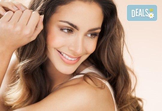 Кератинова терапия за коса с инфраред преса, подстригване и оформяне със сешоар в салон за красота Diva - Снимка 1
