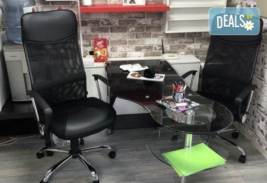 Кератинова терапия за коса с инфраред преса, подстригване и оформяне със сешоар в салон за красота Diva - Снимка 6