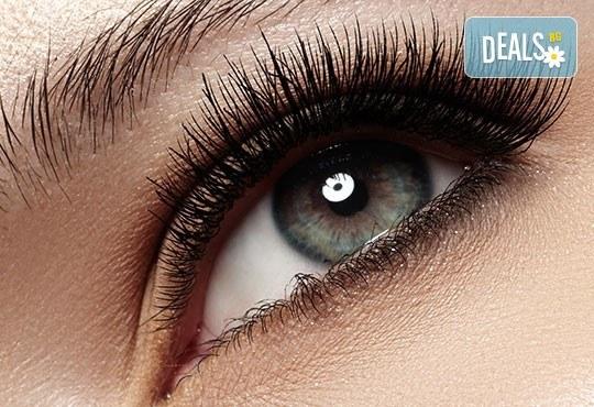 Красив поглед! Поставяне на 3D мигли по метода косъм по косъм, луксозен клас от Студио за миглопластика Princess Lashes - Снимка 3