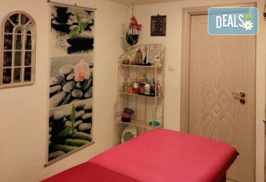 Пакет Блаженство - масаж на гръб с топло масло от мускус и перли и подхранване на лице с хиалуронова ампула и ултразвук + бонус ензимен пилинг в Wellness Center Ganesha Club - Снимка 10