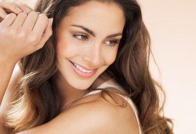 Кератинова терапия за коса с инфраред преса, подстригване и оформяне със сешоар в салон за красота Diva - Снимка
