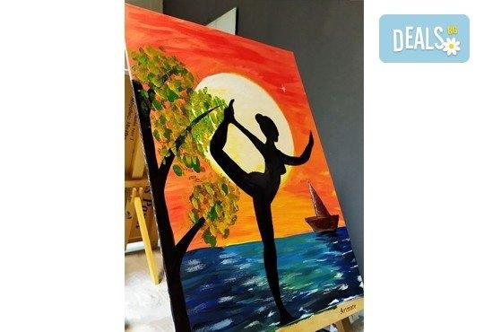 Рисуване и вино! 3 часа рисуване на картина с акрил през м. март + чаша вино в Пух арт студио - Снимка 28