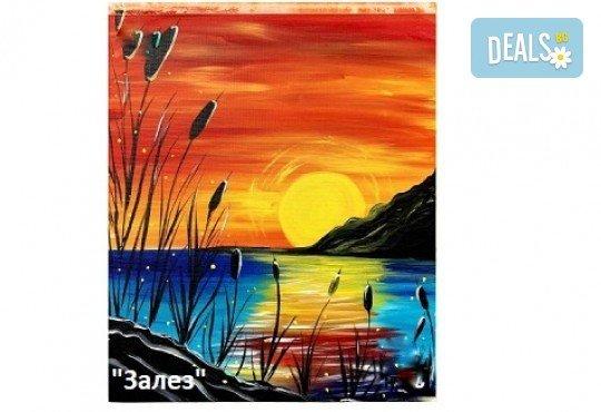 Рисуване и вино! 3 часа рисуване на картина с акрил през м. март + чаша вино в Пух арт студио - Снимка 6