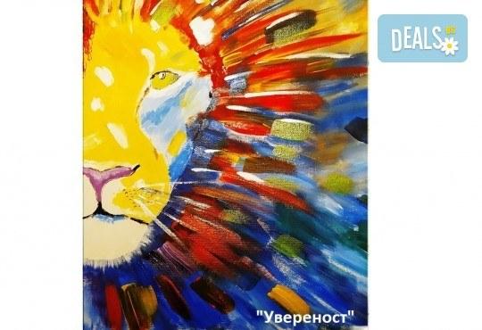 Рисуване и вино! 3 часа рисуване на картина с акрил през м. март + чаша вино в Пух арт студио - Снимка 12
