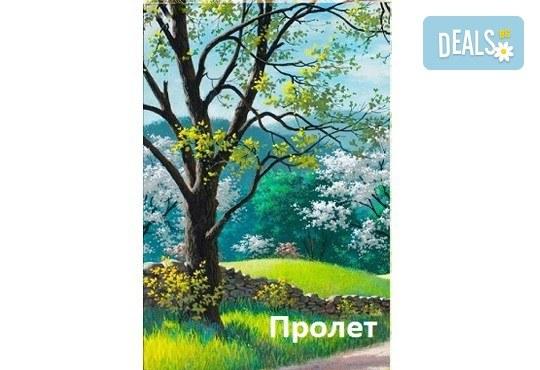 В цветовете на пролетта! Рисуване и вино: картина с акрил, метод стъпка по стъпка + чаша вино в Пух арт студио - Снимка 7