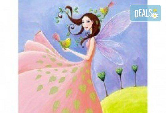 В цветовете на пролетта! Рисуване и вино: картина с акрил, метод стъпка по стъпка + чаша вино в Пух арт студио - Снимка 10